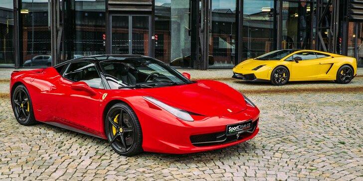 Jazda v novom Ferrari 458 Italia alebo v Lamborghini Gallardo LP560-4 vr. paliva