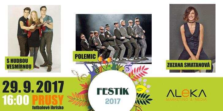 Lístky na koncertný večer Festík 2017 v obci Prusy