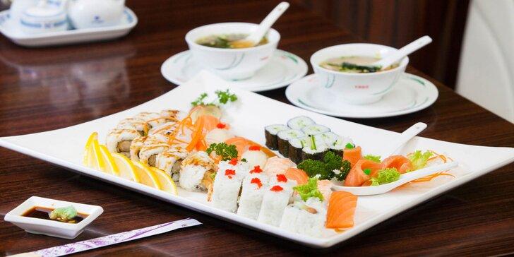 Degustačné sushi menu pre dve osoby v Shanghai reštaurácii