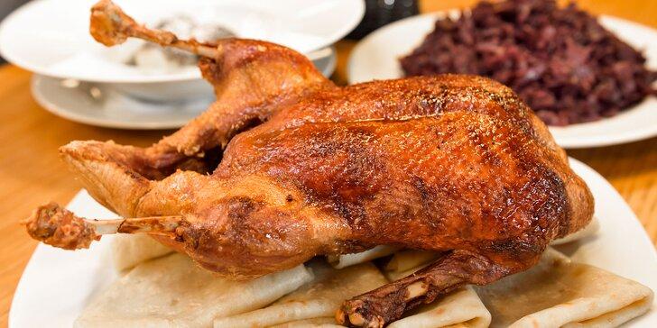 Kačacie hody! Celá kačka alebo konfitované stehno s tradičnými prílohami