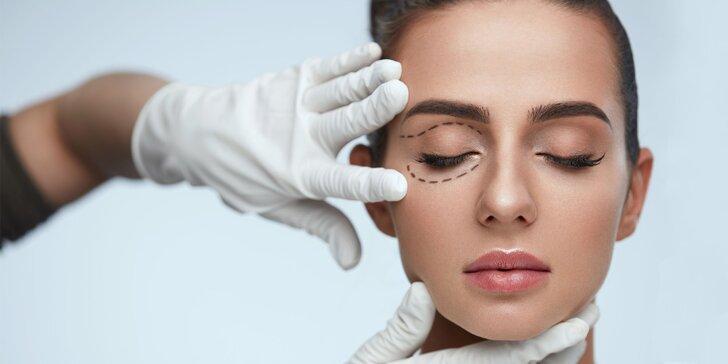 Profesionálna operácia horných očných viečok