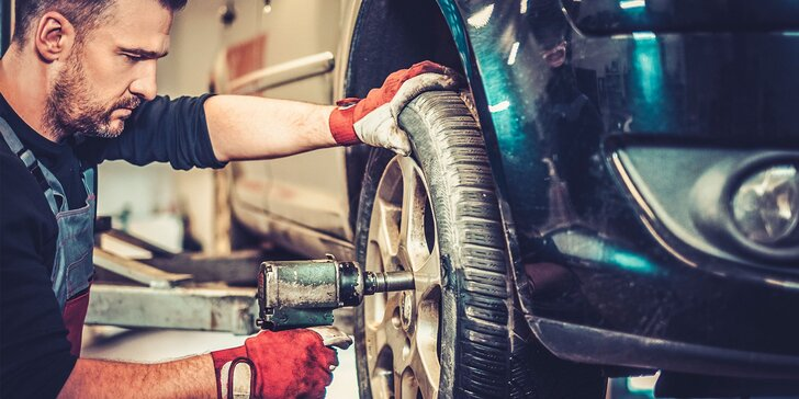 Výmena letných kolies za zimné s vyvážením a kontrolou vozidla