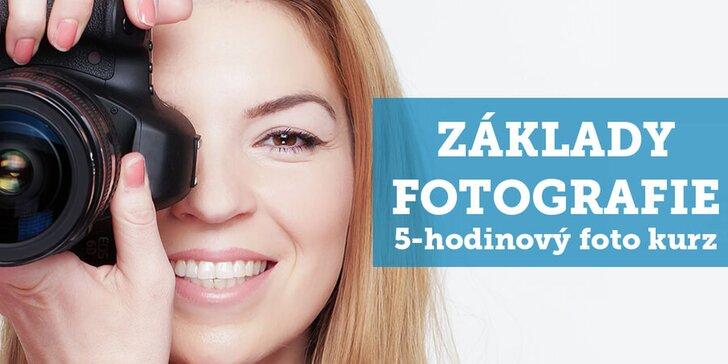 Celodenné fotografické kurzy pre začiatočníkov v štúdiu