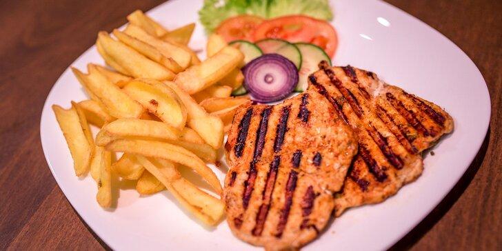 Kurací steak s hranolčekmi