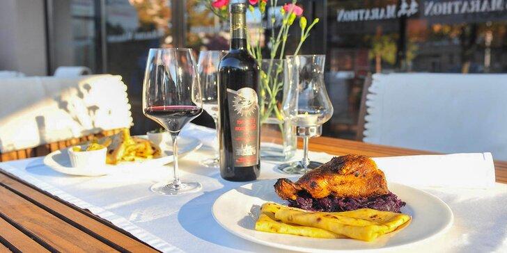 Špeciálne jesenné menu s ochutnávkou 5 druhov vín