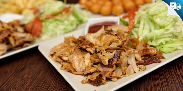 Kurací kebab v placke, žemli či na tanieri: možnosť rozvozu!