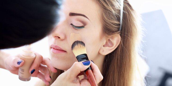 Ošetrenia pleti, formovanie a farbenie obočia či spoločenský make-up