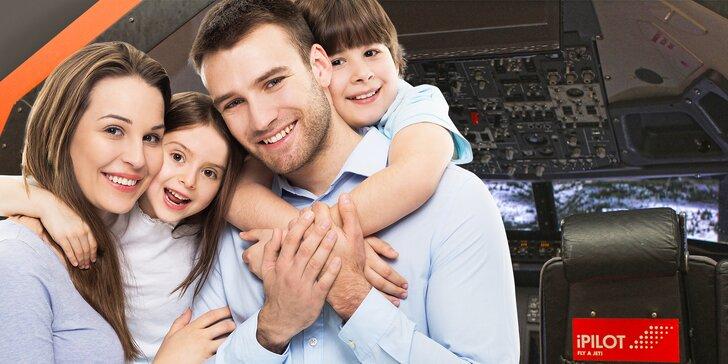 Pripútajte sa, zábava začína: 60 alebo 90 minút na leteckom simulátore pre rodinu