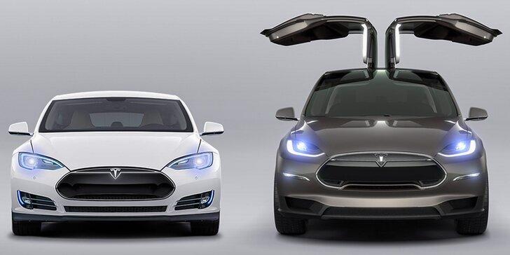 Jazda na automobiloch Tesla X P90D či Tesla S P90DL