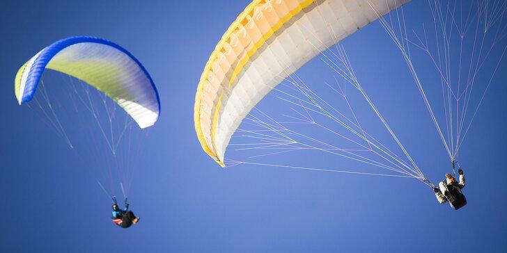 Kurz paraglidingu pre 1 či 2 osoby - adrenalínový darček!