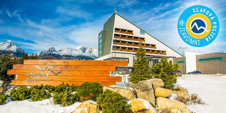 Exkluzívny pobyt v najmodernejšom hoteli HORIZONT Resort**** vo Vysokých Tatrách s neobmedzeným wellness + celodenným vstupom do Aquacity Poprad