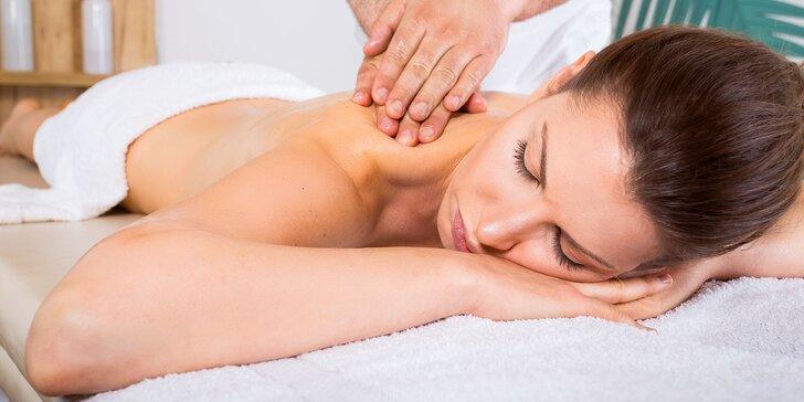 Masáž chrbta a šije, ale i celého tela - aj permanentky!
