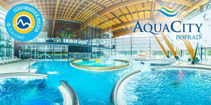 Celodenný vstup do AquaCity Poprad do vodného aj saunového sveta s platnosťou do Vianoc