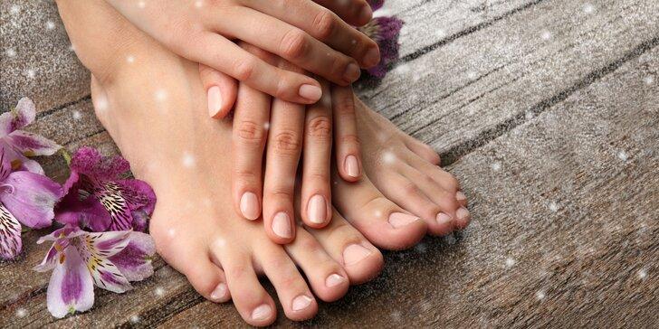 Mokrá pedikúra s masážou a možnosťou gél laku i manikúry