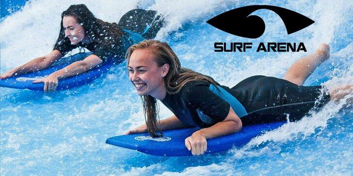 Hodinová jazda na surf trenažéri pod dohľadom inštruktorov s videozáznamom
