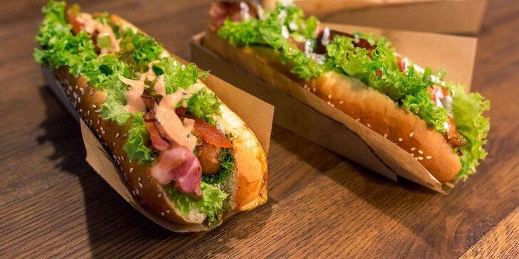 Lahodné hot dogy v centre Košíc
