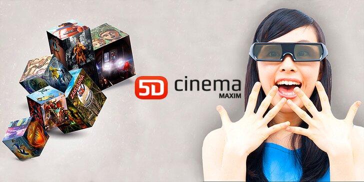 Zažite 5. dimenziu: Lístok na ľubovolný film do 5D Cinema MAXIM