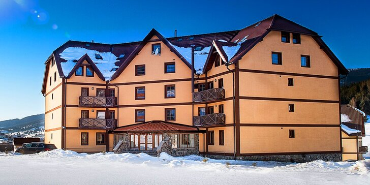 Zimná dovolenka s polpenziou v krásnych apartmánoch v Slovenskom Raji