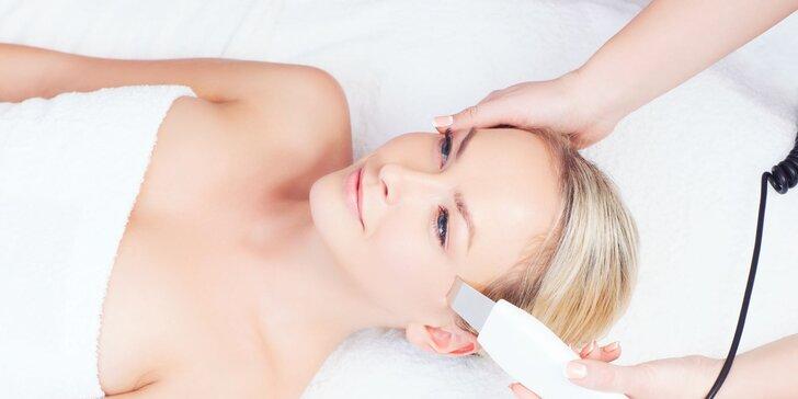 Hĺbkové čistenie pleti so Skin Scrubberom, ozonizér a úprava obočia