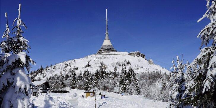 Zima v Svetlej pod Ještědom: vezmite rodinu na lyžovačku do penziónu s polpenziou