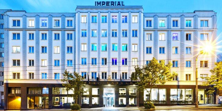 Noc v úžasnej izbe Grand Hotela Imperial**** Liberec a večera s degustáciou vín
