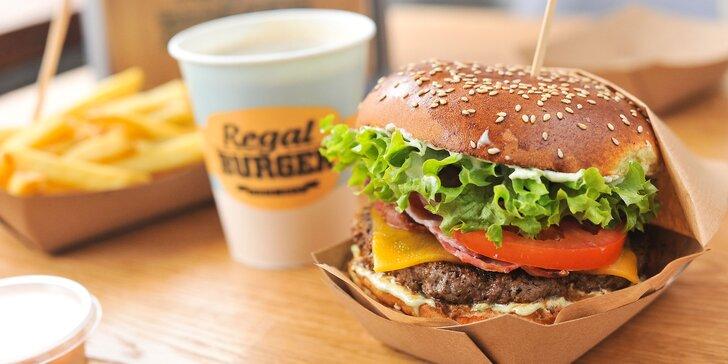 Famózny Regal Burger v Auparku s hranolčekmi a bezodný nápoj
