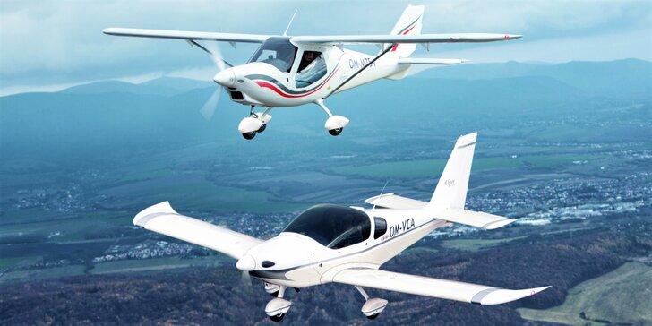 Let lietadlom Viper SD4 či Skyper GT9 s možnosťou pilotovania - EXKLUZÍVNY vianočný darček!