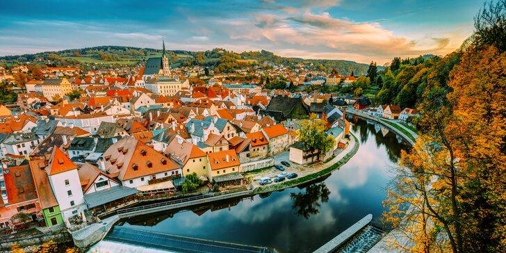 Dve romantické noci vrátane raňajok v Českom Krumlove až pre 4 osoby