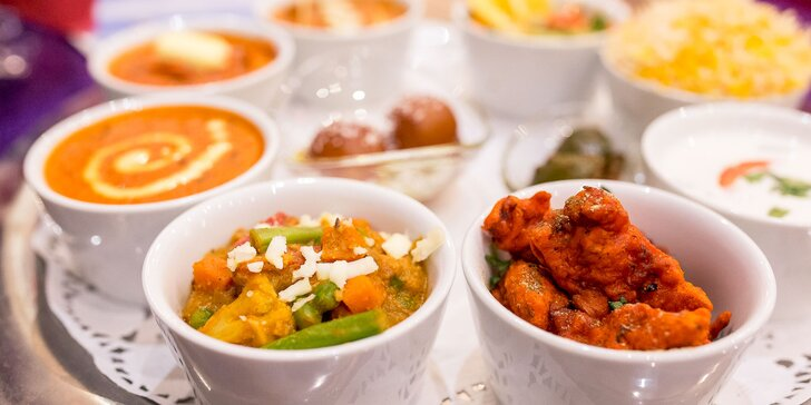 Explózia orientálnych chutí - Taj Mahal tanier s indickými špecialitami