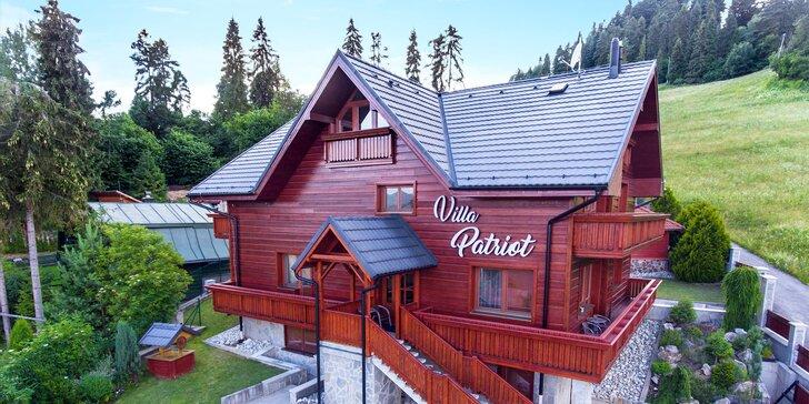 Villa Patriot vo Vyšných Ružbachoch s wellness a komfortným ubytovaním v apartmánoch