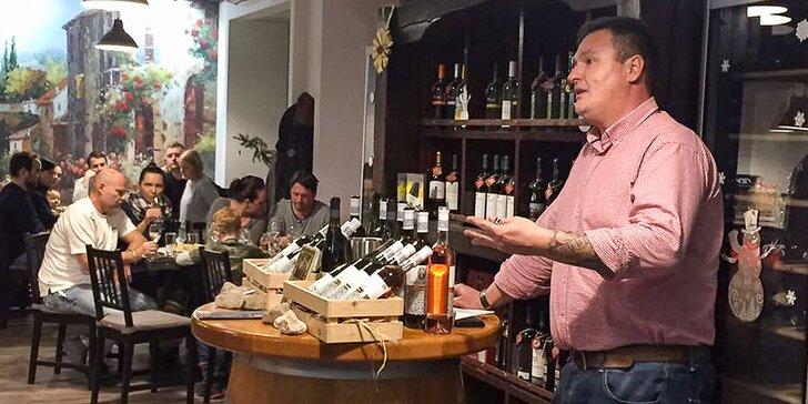 Ochutnávka vín vo vinotéke Weineck