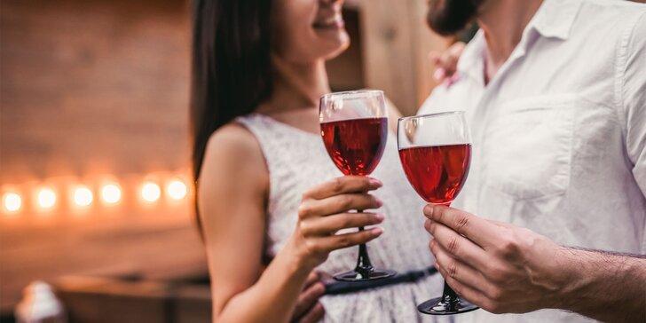 Romantická valentínska degustácia vín pre 2 osoby