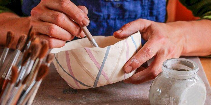 Tvorivý kurz keramiky a glazovania v Ateliér Rena & Katy