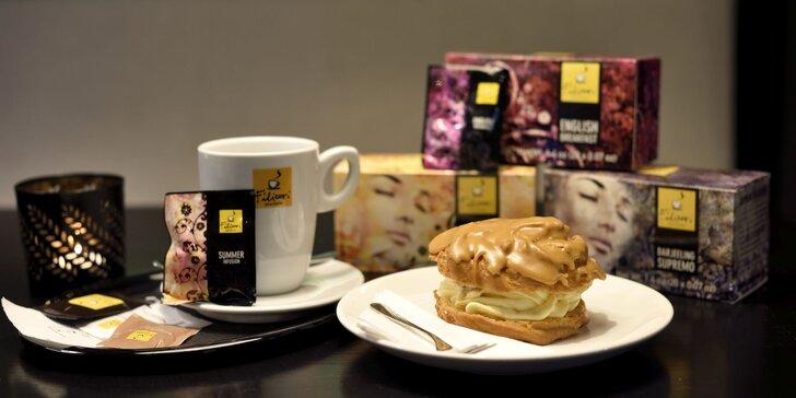Talianska káva alebo čaj s domácim koláčikom v Business Garden