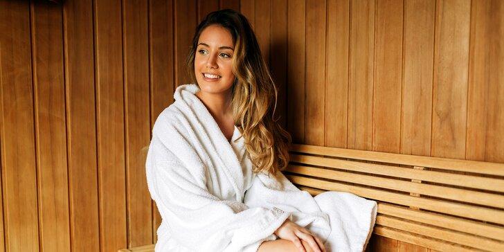 Vstup do sauny a glaukonitové zábaly vo Wellness centre oddychu