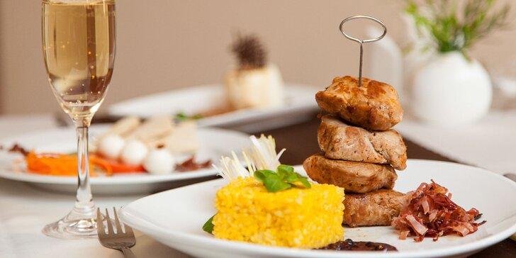 3-chodové menu s aperitívom: panenka a hokkaido rizoto