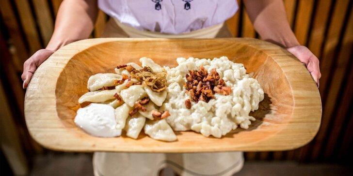 Chižovský tanier s haluškami a pirohami, pirohy s lekvárom či šúľance s makom