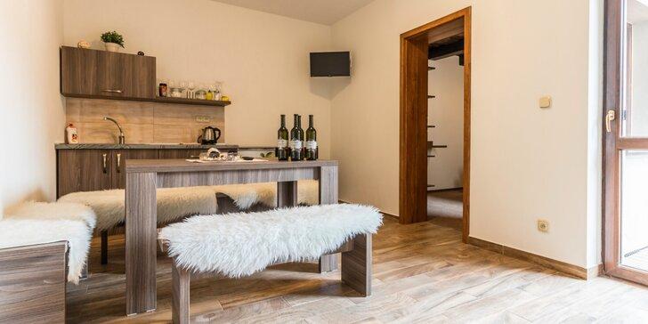 Apartmány s raňajkami pre rodinu či partiu: cyklovýlety a možnosť degustácie vín