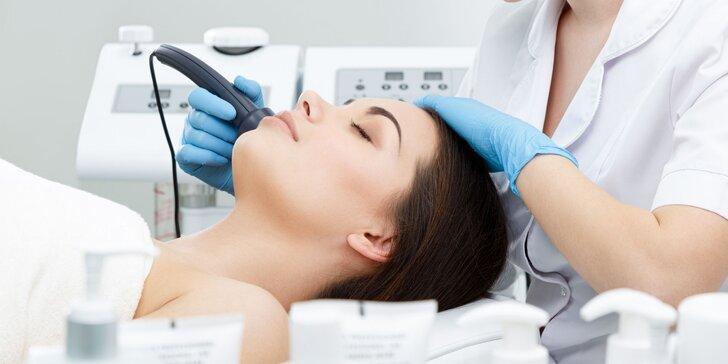 Ošetrenie pleti galvanickou žehličkou, čistenie skin scrubberom alebo kompletné ošetrenie pleti