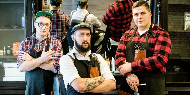 Pánsky strih a holenie tváre v novootvorenom barbershope Sidepart