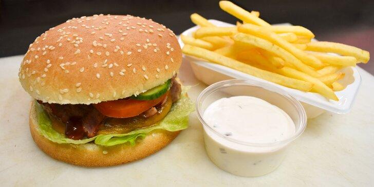 Burger a hranolčeky! Vyberte si z troch druhov!
