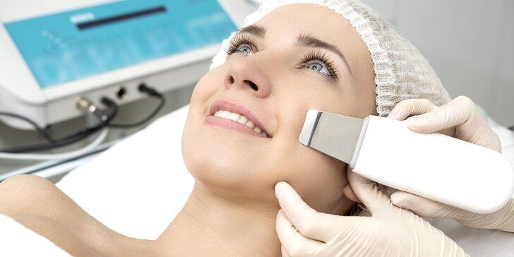 Ošetrenie pleti Skin scrubberom, mikrodermabráziou, sonoforézou alebo Purexpertom