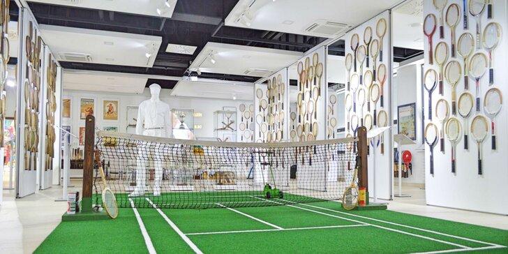 Vstupenka do tenisového múzea pre malých, veľkých aj skupiny