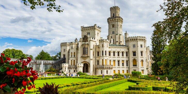 Slávnosti päťlistej ruže, návšteva zámku Hluboká a mesta Třeboň