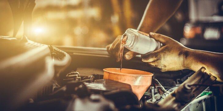 Výmena motorového oleja v autoservise Bergamo