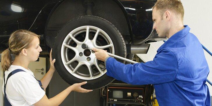 Výmena alebo kompletné prezutie zimných kolies za letné, vyváženie a kontrola vozidla