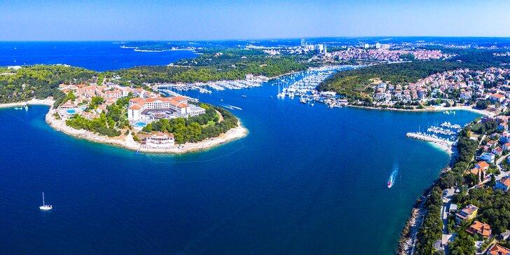 Chorvátsky oddych blízko mora, krás národného parku a starobylej Puly