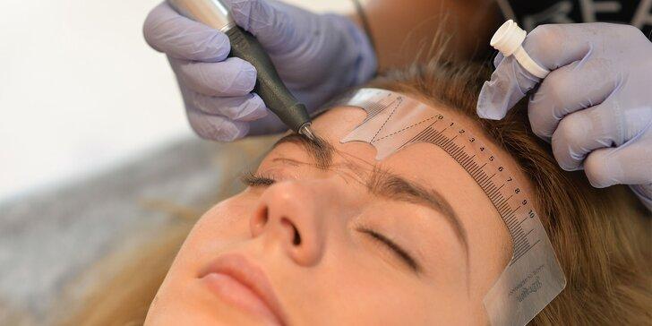 Permanentný make-up obočia, očných liniek alebo pier