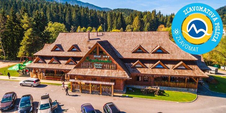 Rodinná dovolenka v Hoteli Strachanovka*** v Nízkych Tatrách s každodenným wellness a aktivitami v Jánskej doline