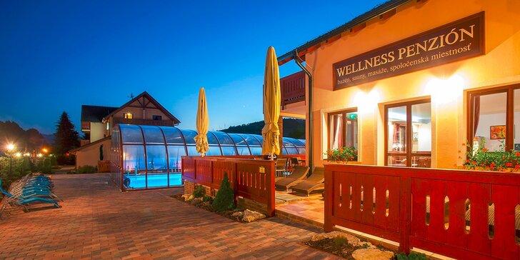 Wellness pobyt neďaleko Bešeňovej so saunami, jacuzzi a vyhrievaným bazénom a aktivitami pre deti